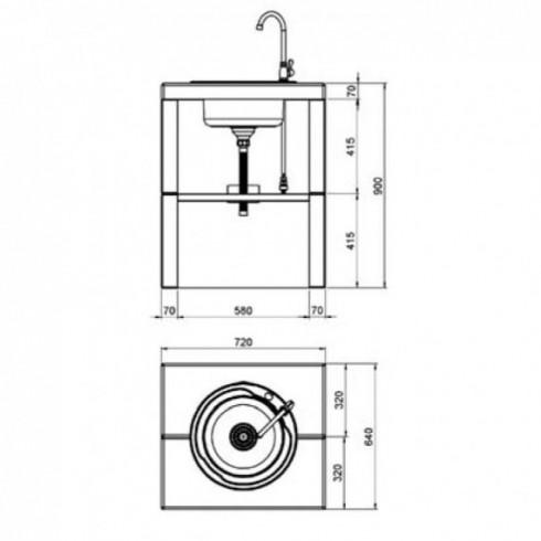 Монтажная подставка для Stony 30 (Narvi)