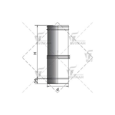 Тройник VOG 45° овал 120х240 на d130.7 (Вулкан)