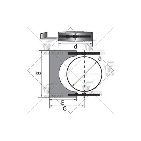 Компенсатор расш. без вент.отверстий D160, нерж (Hart)