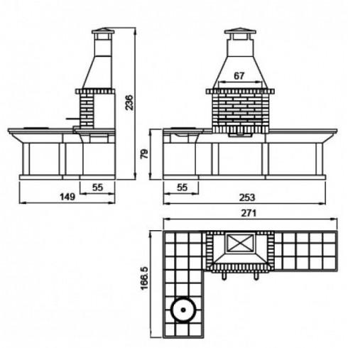 Дровница VKN111-ABR, античная бронза (Вулкан)