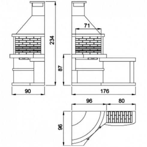 Дровница VKN111-ASL, античное серебро (Вулкан)