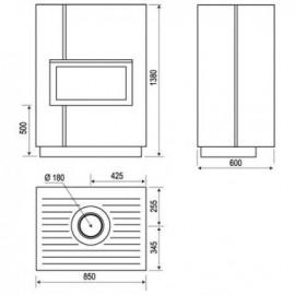 Заглушка на потолок, 033.BSM150 (Dixneuf)