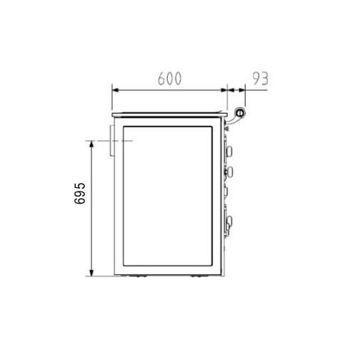 Предтопочный лист VPL073-INBA, 400х600, зеркальный (Вулкан)
