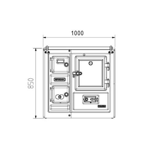 Предтопочный лист VPL064-R7010, 400х600, серый (Вулкан)