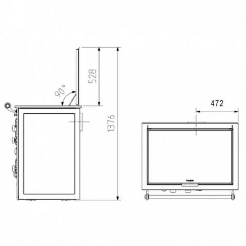 Предтопочный лист VPL072-R9005, 400х800, черный (Вулкан)
