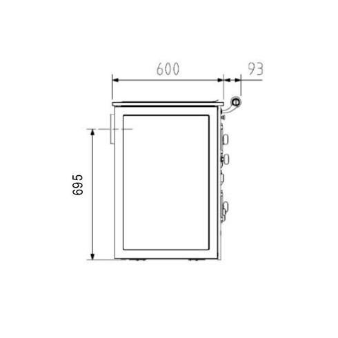 Предтопочный лист VPL071-INBA, 500х1000, зеркальный (Вулкан)