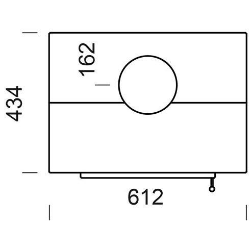 Подставка под набор A1, A2, B, C, D для топок H2Oceano 15 (EdilKamin)